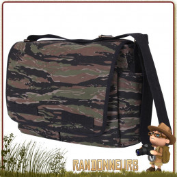 Sac Besace Vintage Classic Messenger Tiger Stripe Camo Rothco france