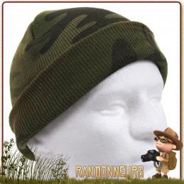 Bonnet Watch Cap Woodland Camo Rothco - Bonnet type Commando de couleur. Tissu 100% acrylique chaud et respirant
