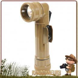 Lampe Torche Coudée US Army Coyote Rothco 55 lumens militaire avec jeux de lentilles colorées