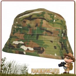 Chapeau militaire BUSH Highlander Pro Force, pur coton, couleur Multicam, confortable et respirant