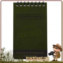 Carnet de Notes Etanche Waterproof Highlander utilisation militaire et agricole pour toutes conditions sous la pluie