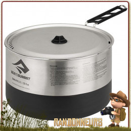 Casserole Trekking Sigma Pot revêtement Fluxtherm Inox 370 cl Sea To Summit de bivouac léger