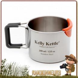 Tasse Acier Inox ultra robuste 35 cl Kelly Kettle bivouac bushcraft france