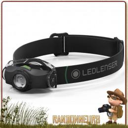 Lampe Frontale Led Lenser MH4 deux modes d'éclairage 200 lumens associée à une portée de 130 mètres