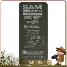 L'attelle SAM Splint sam medical  structure souple et modelable. Adaptable situations premiers soins avec traumatisme
