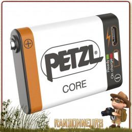 Batterie Rechargeable Petzl Core grande capacité Lithium-Ion 1250 mAh pour lampes frontales compactes petzl