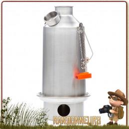 Bouilloire Réchaud Bois Bushcraft, BaseCamp Kettle Aluminium de 1.6 Litres KellyKettle pour bouillir de l'eau en bivouac