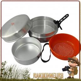 Popote Camping Aluminium 4-5 Personnes CAO, complète pour une famille ou groupe de randonneurs