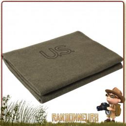 Couverture Pure Laine US Army Rothco légère et chaude pour bivouac camp bushcraft