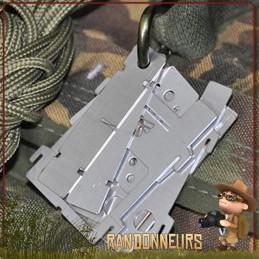 Micro Réchaud EDCbox de Bushcraft Essentials, un réchaud bois ultra léger (75 g) ultra compact, entièrement démontable