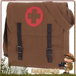 sac bandouliere medic rothco en coton canvas pour randonner et transport de tablette