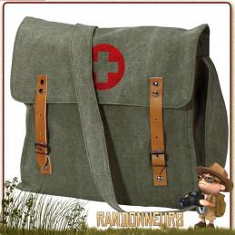 sac coton bandouliere vintage en coton medic rothco pour randonnee bushcraft en ville
