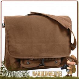 sac vintage coton canvas bandouliere randonnee bushcraft