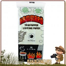 Carte allume feu bivouac bushcraft, moyen écologique et rapide pour allumer son feu de camp survie