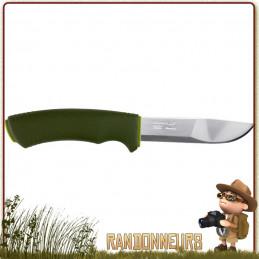 Couteau Mora Bushcraft Forest lame acier inox 12C27 robuste pour le bivouac nature et survie