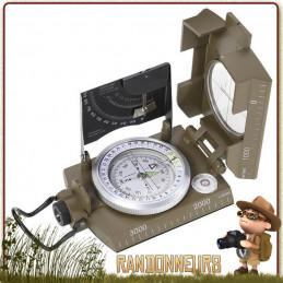 Boussole militaire de navigation avec inclinometre, la boussole avec viseur Herbertz propose un cadran lisible bain d'huile