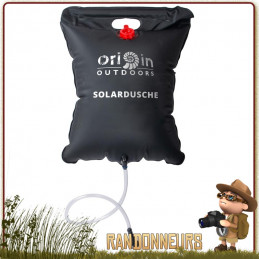Douche Solaire 20 Litres Origin Outdoors bivouac camping plage