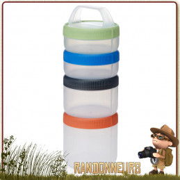 Set Boite de Stockage Stax Humangear Large plastique alimentaire pour kit de survie