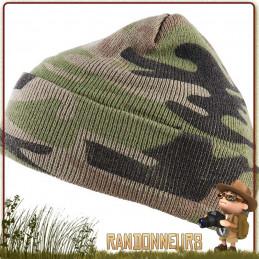 Bonnet Commando Camouflage Fostex chaud et leger pour la chasse