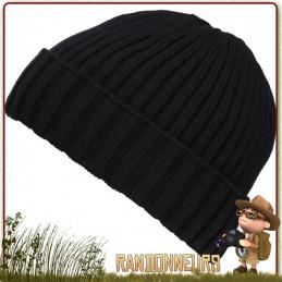 Bonnet Bushcraft Polaire Noir Fostex randonnee hiver en montagne