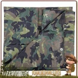 Bache Tarp militaire camouflage Plastique 200 par 300 CAMO 101 Inc
