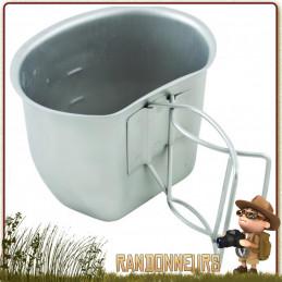quart gamelle acier inox bcb international pour boire, cuisiner pour gourde militaire et armée