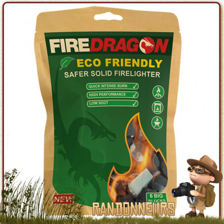 Tablettes Gel Ethanol DragonFire en sachet de 6 unités BCB