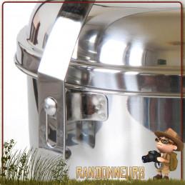 popote acier Inox 1.6 litre Tatonka avec casserole avec anse robuste, et un couvercle bivouac bushcraft camping