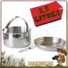 popote acier Inox 2.5 litre Tatonka avec casserole avec anse repliable et un couvercle poele bivouac bushcraft