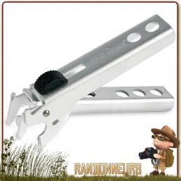 pince preneuse en aluminium Tatonka, légère et compacte, avec clip de blocage de la poignée pour votre popote