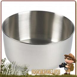 Large Pot en acier inoxydable polyvalent de Tatonka. D'un volume utile de 1.6 Litres, avec graduations intérieures