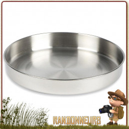poêle casserole en inox robuste et pratique sera autant utile en tant que casserole, poêle, assiette bushcraft