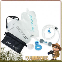 Filtre eau randonnée portable par gravité, filtre Platypus GravityWorks est idéal pour filtration de grande quantité d'eau