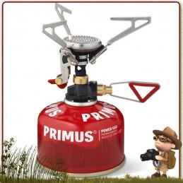 réchaud Microntrail piezo Primus puissant ultra léger 90 g trois pieds repliables pour stabilité popote randonnée