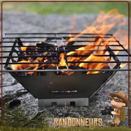 Réchaud Bushcraft à bois, FireBox Grill Titane Vargo, entièrement en métal titane et pliable pour bivouac ultra light