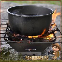Réchaud Bushcraft à bois, FireBox Grill acier inoxydable Vargo, entièrement en inox et pliant pour un bivouac ultra léger
