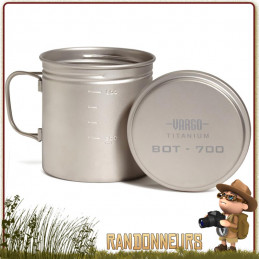 Vargo BOT Titane combine à la fois un mug, une gourde étanche, une tasse ou une popote bushcraft ultra légère