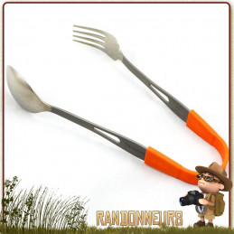 set de couverts Titongs Toaks une fourchette et cuillere en titane ultra légères, idéale pour le bivouac léger et la randonnée