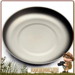 Assiette titane ultra légère titanium de Toaks, idéale pour le camping ultra light et la randonnée bivouac léger