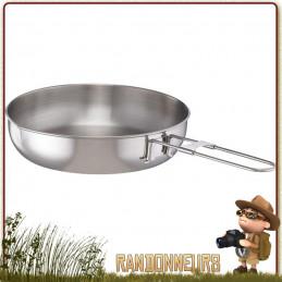 Poêle à frire Alpine Fry Pan MSR en acier inoxydable combinaison aluminium et Inox est parfaite pour une utilisation intensive