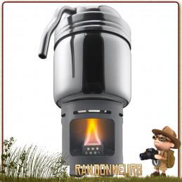 Set Cafetière Randonnée avec réchaud Esbit cafetière tout inox et d'un réchaud essence solide campement bushcraft léger