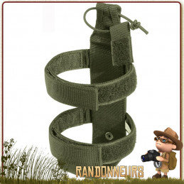 porte gourde bouteille Nalgene,  permet de transporter une gourde militaire type Nalgene sur un sac à dos armée tactique