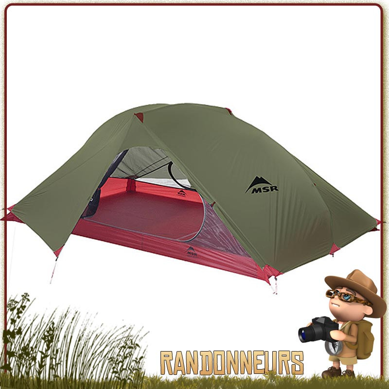 TENTE MSR CARBON REFLEX 2 - Tente de randonnée légère bikepacking pour 2 deux personne trois 3 saisons msr