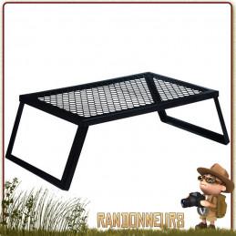 Grille de grill pour feu de camp bushcraft et nomade, le grill Heavy Duty Coghlan's est une grille ultra robuste