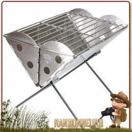 Grill Portable Pliant FlatPack UCO taille large pour le camping bivouac partie de pêche