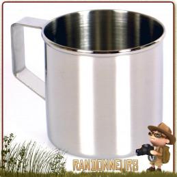 Tasse tout acier inoxydable de qualité et robuste pour toutes activités nature et bushcraft