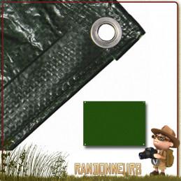 tarp bushcraft survie pas cher, bache légère bivouac pas cher highlander pour utilisation militaire, survie nature
