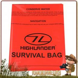 sursac bivy bag de survie 1 une place highlander, un bivy bag étanche pas cher pour le bushcraft survie nature