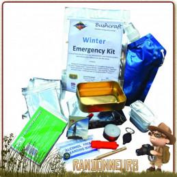Kit Situation d'urgence Hiver de BCB personnes isolées par le mauvais temps  éléments essentiels pour s'hydrater, se réchauffer