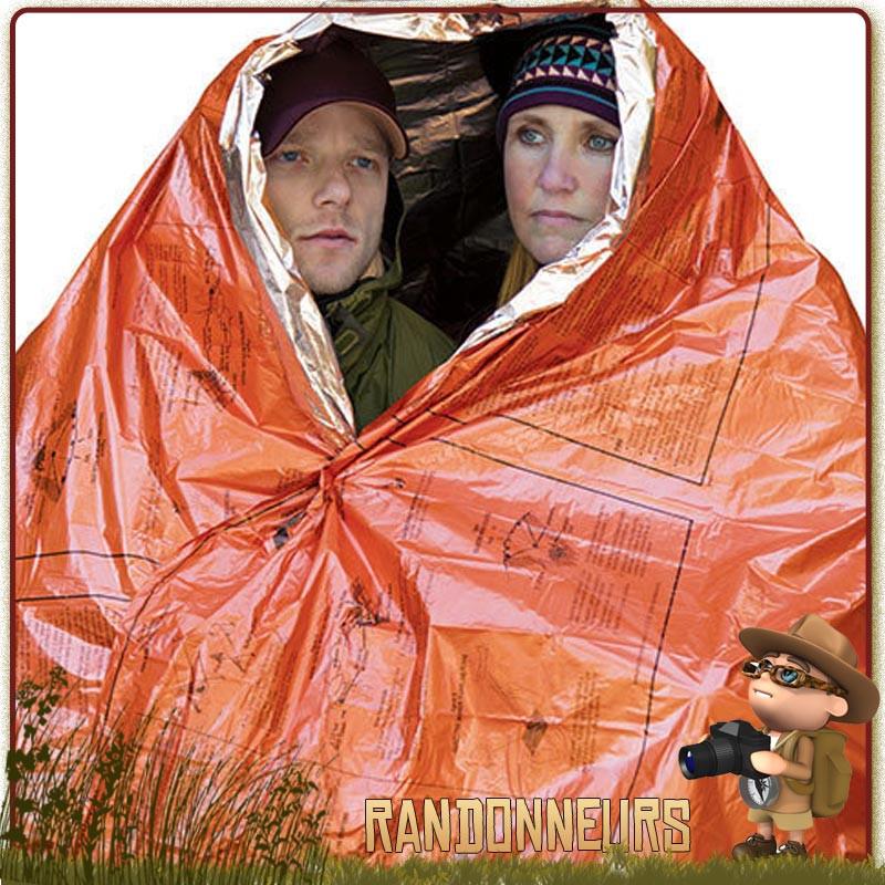 Bright Orange /& Argent Mylar Pluie Poncho d/'Urgence Survie Kits Camping